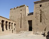 foto of isis  - detail of the ancient temple of Isis in Egypt - JPG