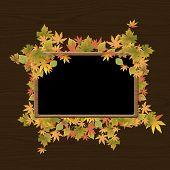 Rahmen der Blätter im Herbst