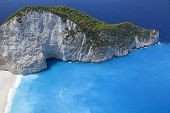 Blue Lagoon, Island Paradise. Ionic Sea Of Greece Zakynthos, Popular Touristic Destination. poster
