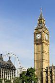 Big Ben, Londres, Inglaterra, en la tarde