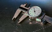 Vernier Caliper With Metal Turnings