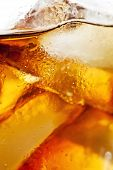 picture of coca-cola  - Photograph of a refreshing glass of coca cola with ice cubes - JPG