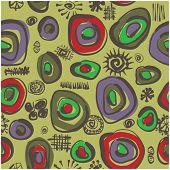 art vector seamless pattern vintage stylization background on green