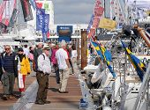 Boat show crowds