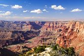 foto of grand canyon  - Classical Grand Canyon view of Colorado river - JPG