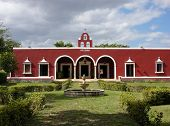 stock photo of hacienda  - The view of characteristic XIX century hacienda in Mexico - JPG