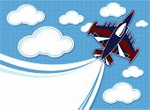 acrobatic jet cartoon blank contrail