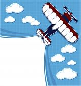 biplane cartoon top view
