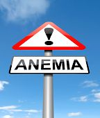 stock photo of hemoglobin  - Illustration depicting a sign with an anemia concept - JPG