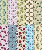 Set Of Seamless Simple Patterns For Scrapbook