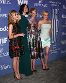 LOS ANGELES - JUN 12:  Kiernan Shipka, Jessica Pare, January Jones, Elisabeth Moss arrives at the Cr