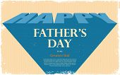 illustration of Happy Father's Day retro background