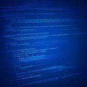illustration of html coding on technology background