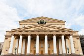 Facade Of Bolshoi Theater In Moscow