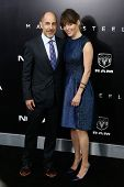 NEW YORK-JUNE 10: Screenwriter David S. Goyer and wife Marina Black attend the world premiere of