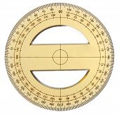 Yellow Transparent Protractor