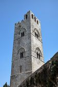 Medieval Catholic Church Chiesa Matrice in Erice. Sicily, Italy