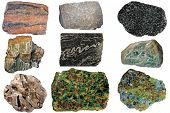 stock photo of gneiss  - From upper left - JPG