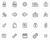 Plain Icon Set: Website And Internet 2