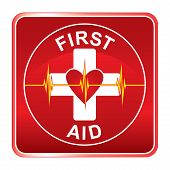 Símbolo de salud de primeros auxilios