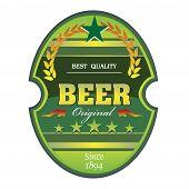 Green beer label