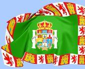 Bandeira da província de Cádiz, Espanha.