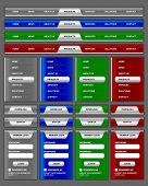 Navigation Menu And Website Elements