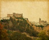 Retro image of Arcos de la Frontera,  Andalusia, Spain.