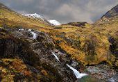 glaciers melting across beautiful sottish landscape