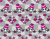 Seamless Emo Skulls Pattern