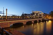 Amsterdam, Netherlands - Drawbridge In The Evening