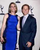 LOS ANGELES - JUN 13:  Colleen Bell, Brad Bell arrives at the Daytime Emmy Nominees Reception presen