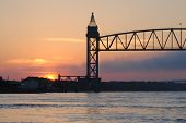 cape cod canal train bridge.