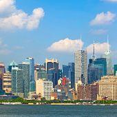 New York CIty USA downtown buildings ona beautiful day