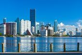 City of Miami Florida summer panorama