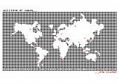 foto of billion  - Billions of people on a world map - JPG