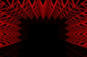 Abstract Red Triangle Truss Wall