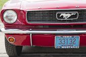 1966 Red Ford Mustang Convertible Headlight
