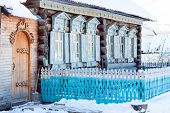 House With Traditional Pattern. Russia