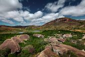 Rocky land of Anja reserve. Madagascar