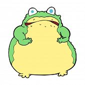 cartoon fat toad