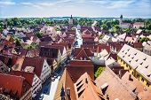View To Old Medieval City Of Dinkelsbuehl, Germany