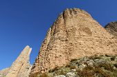 Vista de las montañas de Riglos en España