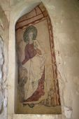 medieval wall painting poster