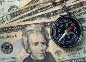 Compass on Twenty dollar bills