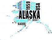 Alaska map tag cloud