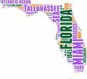 Florida map tag cloud