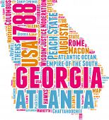 Georgia map tag cloud