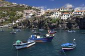 fishing port on the island of madeira