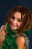 Beautiful Young Woman With Dreadlocks